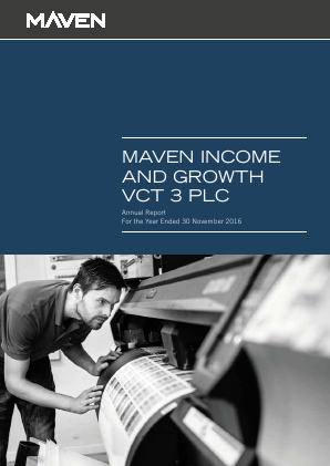 Maven Income & Growth VCT 3 Plc annual report 2016