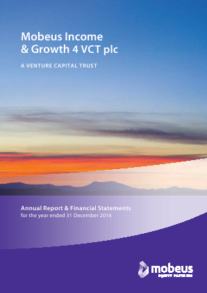Mobeus Income & Growth 4 VCT Plc annual report 2016