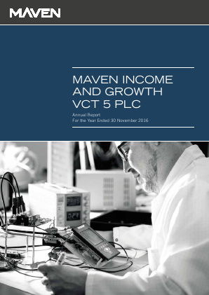 Maven Income & Growth VCT 5 Plc annual report 2016