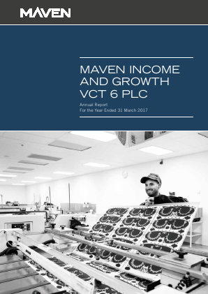 Maven Income & Growth VCT 6 Plc annual report 2017