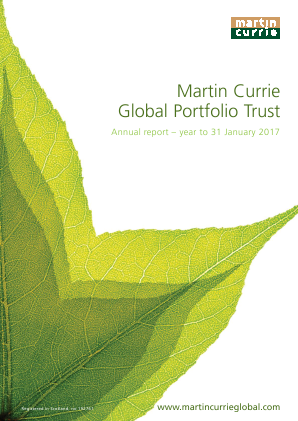 Martin Currie Global Portfolio Trust annual report 2017