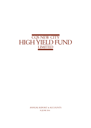 CQS New City High Yield Fund Ltd annual report 2016