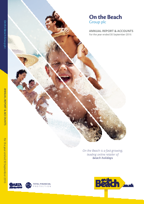 On The Beach Group Plc annual report 2016