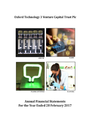 Oxford Technology 3 VCT Plc annual report 2017