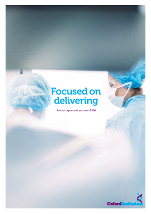 Oxford Biomedica Plc annual report 2016