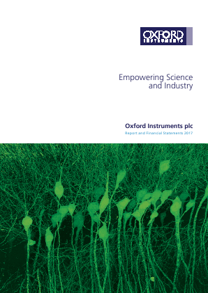 Oxford Instruments annual report 2017