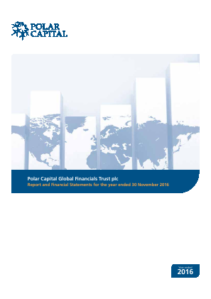 Polar Capital Global Financials Trust annual report 2016