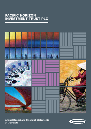 Pacific Horizon Investment Trust annual report 2016