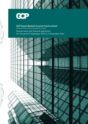 GCP Asset Backed Income Fund (previously Project Finance Investments Ltd) annual report 2016