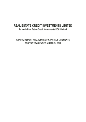Real Estate Credit Investments PCC annual report 2017
