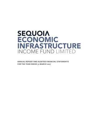 Sequoia Economic Infrastructure Income Fund Ltd annual report 2017