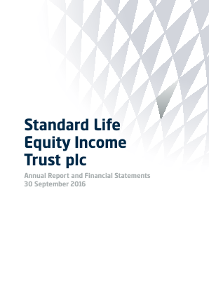 Standard Life Equity Income Trust annual report 2016