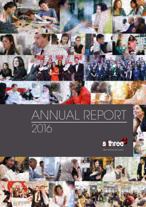 Sthree Plc annual report 2016