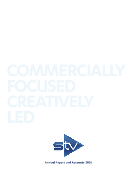 STV Group Plc (formally SMG) annual report 2016