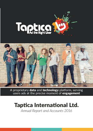 Taptica International Ltd annual report 2016