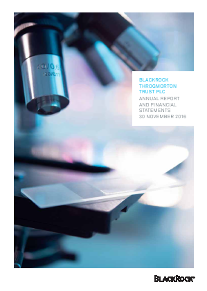 Blackrock Throgmorton Trust Plc annual report 2016