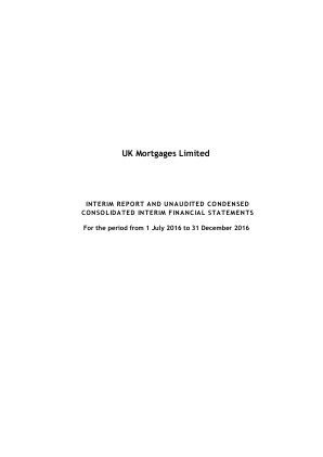 UK Mortgages Ltd annual report 2016