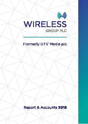 Wireless Group (formally UTV Media) annual report 2015