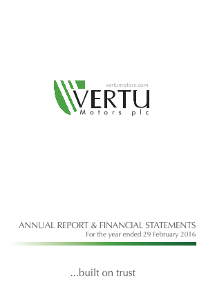 Vertu Motors Plc annual report 2016