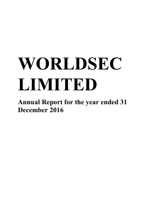 Worldsec annual report 2016