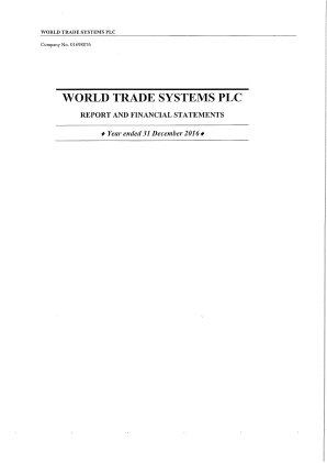 World Trade Systems annual report 2016